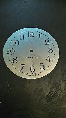 American clock engraved metal dial, 90mm diameter
