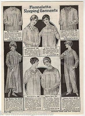 Ladies Pajamas Womens Fashions Antique Art Deco Advertising Sales Catalog Print