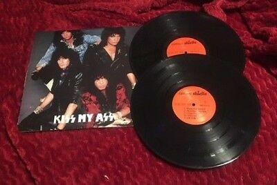 KISS MY ASS Bootleg 2 vinyl Double LP Animalize Live Concert Cosmos Stiletto
