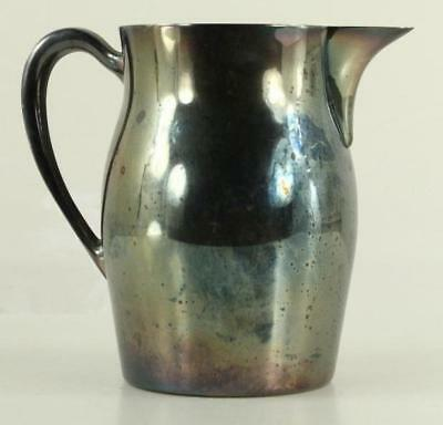 Vintage Tableware EPNS Silverplate Water Pitcher Bristol by Poole 54 Ice Lip 7""