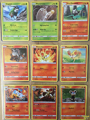 SM FORBIDDEN LIGHT Complete REGULAR 105 Card Set NEAR MINT Pokemon Cards Set