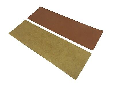 """2 Piece  3"""" x 10""""  French Leather Strop Kit Suede & Smooth Taytools 469638r"""