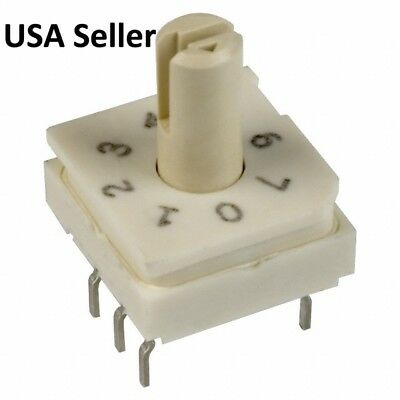5 Pcs 8 Pos Binary Octal Coded Rotary Switches GREYHILL 94HBB08T  USA Seller