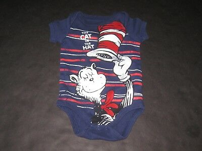 27d69dfc7 Baby Boy Or Girl Unisex 3 Months Dr. Seuss Cat In The Hat Romper Bodysuit