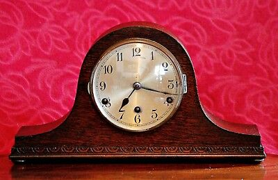 "Vintage Art Deco German ""Wurttemberg""  Mantel Clock with Westminster Chimes"