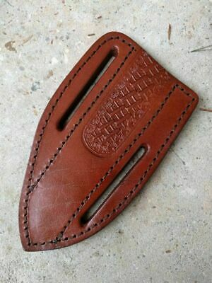 "Brown Leather FIXED BLADE KNIFE BELT SHEATH - Fits up to 6"" x 1.5"" Blade"