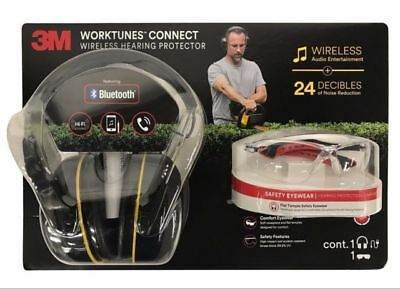 3M Worktunes Hi-Fi Wireless Sound Protection (24 DB)Headphones + Safety Glasses