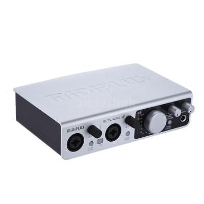 MIDIPLUS STUDIO 2 USB Audio Interface Sound Card 2 Inputs 2 Outputs New W9N8