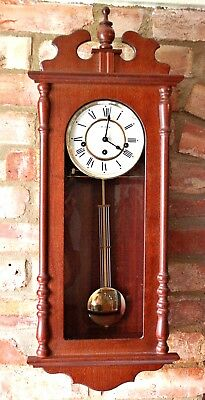 "Vintage German ""Franz Hermle"" 8-Day Wall Clock with Westminster Chimes"