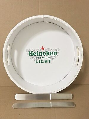 Heineken Light Beer Red Star Serving Set Tray + (2) Foam Scrapers - Brand New!