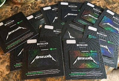 Lot of 13 New Starbucks Limited Edition Metallica Spotify Gift Card 2017 Mint