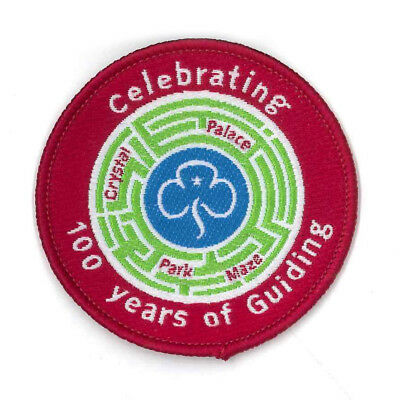 """Girl Guide Scout Brownie BADGE PATCH – new! ~ UK 100 Years Crystal Palace 2"""""""
