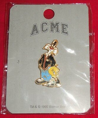 New 1995 Acme SYLVESTER & TWEETY BIRD Looney Tunes Warner Brothers Pin Sealed