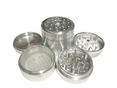 """New SharpStone® 2.2"""" Inch 4pc Clear Top Space Herb Medium Grinder + Extras Case"""