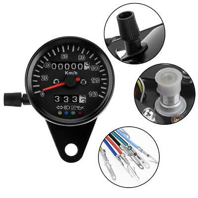 Universal LED Backlight Indicator Metal Motorcycle Odometer Speedometer Gauge