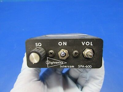 Sigtronics Intercom 11-34 Volts P/N SPA-600 (0518-20)