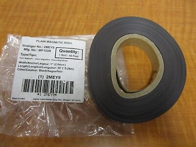 "AIGNER INDEX Perforated 1"" x 3"" Black Magnetic Label Roll, 45ft. NEW"