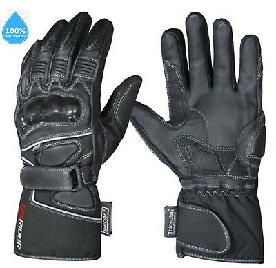 Dririder STORM 2 Motorcycle gloves WATERPROOF New rrp$89 Dry Rider leather road