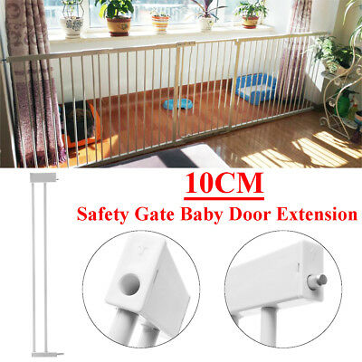 77x10cm Iron Metal Baby Pet Safety Secure Gate Door Extension Barrier Stair Lock