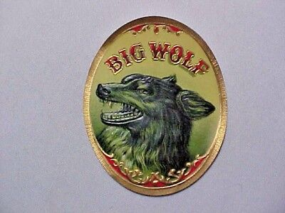 Vintage Cigar Label - Big Wolf Nail Tag Lot of (10) New Old Stock