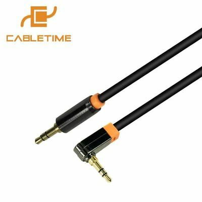 3.5mm Aux Cable 90 Degree Right Angle Flat Jack Male to Male Stereo Audio Cable