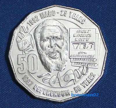 2017 Australian Eddie Mabo Pride and Passion 50 cent coin EX Mint Roll 132d