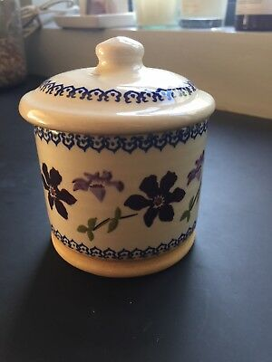 Nicholas Mosse Lidded Sugar Pot, Clematis Design