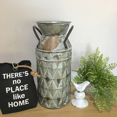 Small Rustic Metal Milk Can/Pot Planter/Handmade Vase/Tin Garden Planter