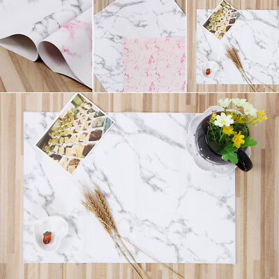 Marble Pattern Stripe Place PVC Table Mat Dishware Coasters For Kitchen 1PC