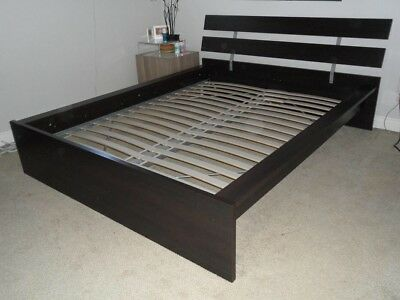 Beautiful Ikea Hopen King Size Bed Frame In Black 40 00 Picclick Uk