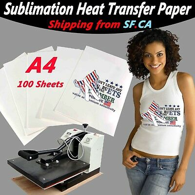 A4,100 sheets,Heat Press Transfer Inkjet Printer Paper for Light Color T-Shirt