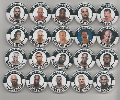 MMA LEGENDS BADGES  X 20  38mm IN SIZE   UFC