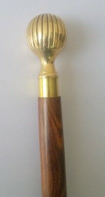 Nautical Brass Solid Handle Wooden Walking Stick Cane Vintage Replica Gift Item