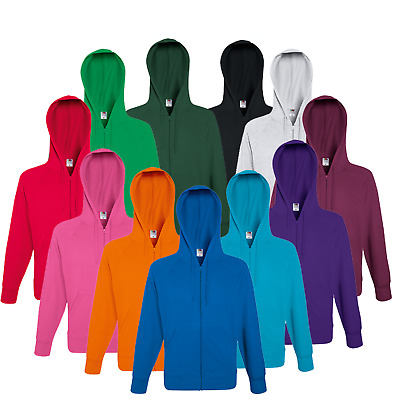 Fruit Of The Loom Men's Zip Hoodie Zipped Hooded Sweatshirt New Zipper Jacket