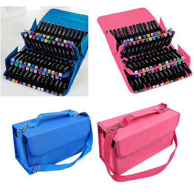 Durable 80 Slots Carrying Bag Marker Case Pen Storage Organizer Portable