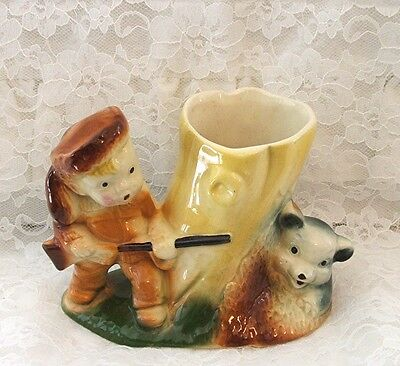American Bisque Davy Crockett Planter Disney 1950's