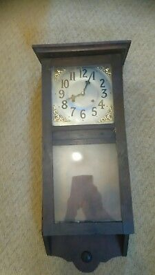 Wall Clock case 750mm x 280mm good condition, and dial