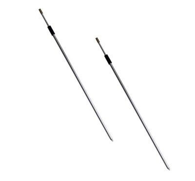 2 Telescopic Light Alloy Fishing Bank Sticks./ Rod Rests. 80-150 cm Std Thread