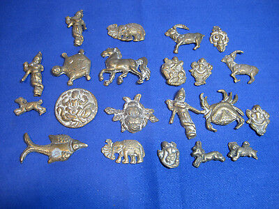 Vintage Indian Small Brass Animals / Figurines Ornament Mantle Furniture / clock