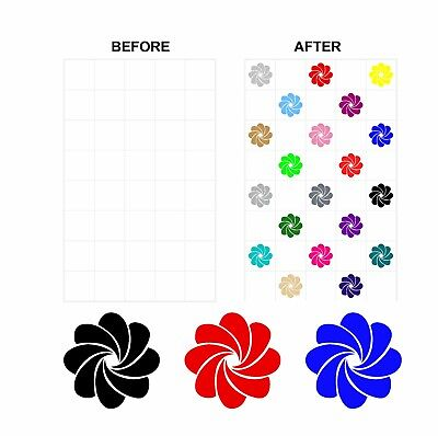Coloured Mosaic Floral Stickers Transfers For 150mm x 150mm & 6 inch Tiles CG05