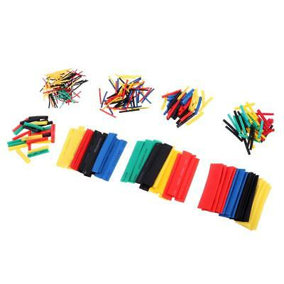 328 Pcs 2:1 Heat Shrink Tubing Tube Sleeving Wrap Cable Wire 5 Color 9 Size