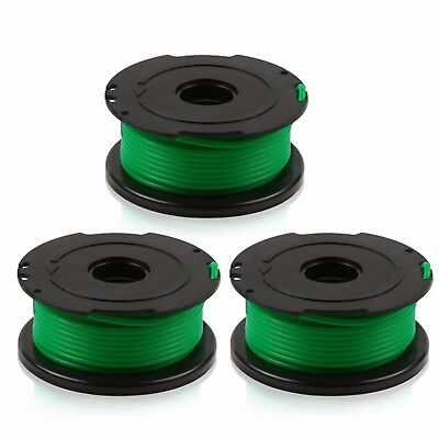 3 Pack SF-080 Auto Feed String Trimmer Spool Line Replacement for Black & Decker