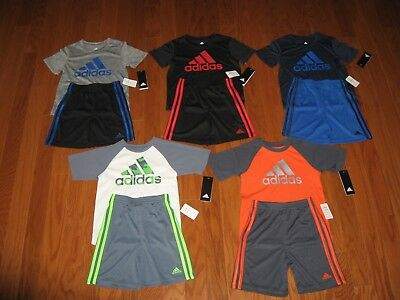 ADIDAS  2 Piece T-Shirt & Shorts Outfit Set  Boys 18M/ 24M / 2T/ 3T/ 4T/5/ 6 NWT