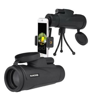 12×50 High Power Monocular Telescope Scope with Tripod Smartphone Adapter I0G8