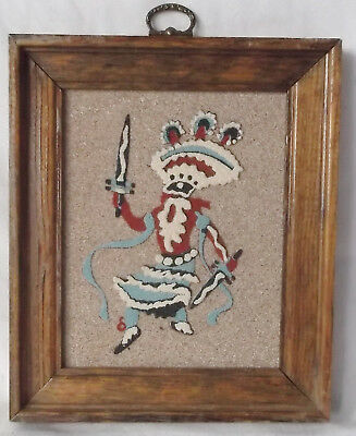 "Southwest Sand Art ""Mountain Spirit Dancer""-6 X 7"" Framed-Rainbow Way Ltd. USA"