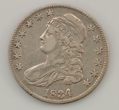 1834 Capped Bust *Large Date, Small Letters* Silver half Dollar *Q04