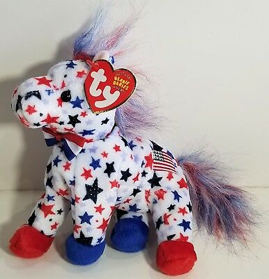 "TY Beanie Babies ""LEFTY 2004"" the Election DEMOCRATIC DONKEY - MWMTs! RETIRED!"