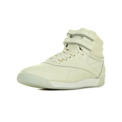 aa582faa3c242 Chaussures Baskets Reebok femme F S Hi Face 35 Classic taille Beige Cuir  Lacets