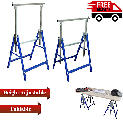 NEW 2x Scaffold Trestle Saw Horse Work Bench Builder Carpenter Adjustabl Height