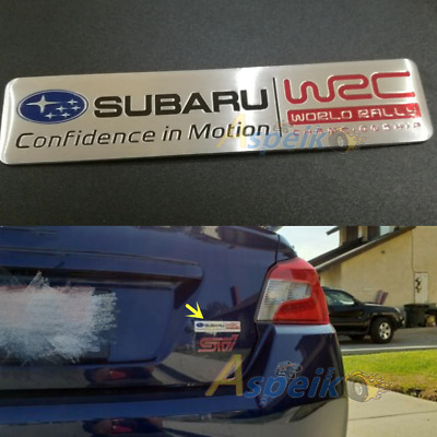 Auto Aluminum Emblem Badge Decal Sticker for Subaru Impreza WRX STI Legacy BRZ